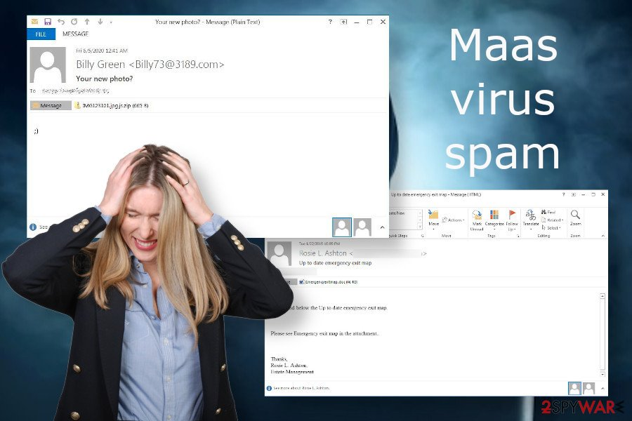 Maas virus spam email