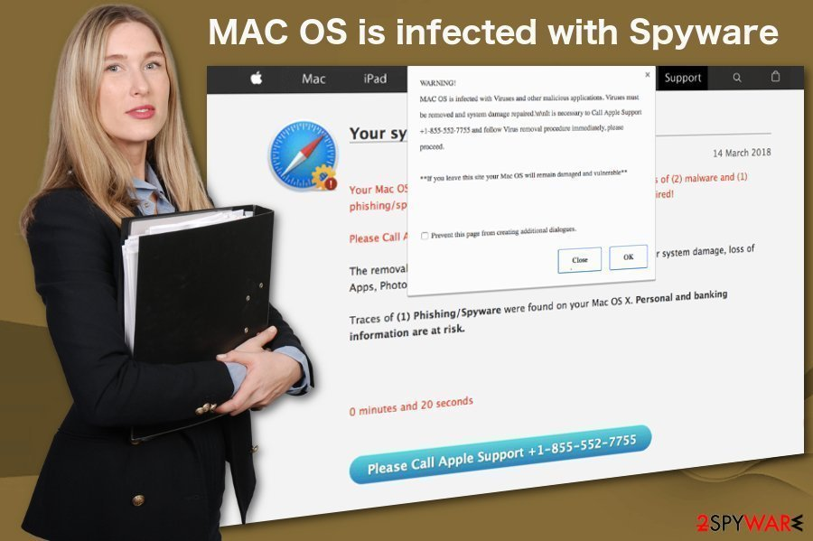 Mojave is infected with 3 viruses scam