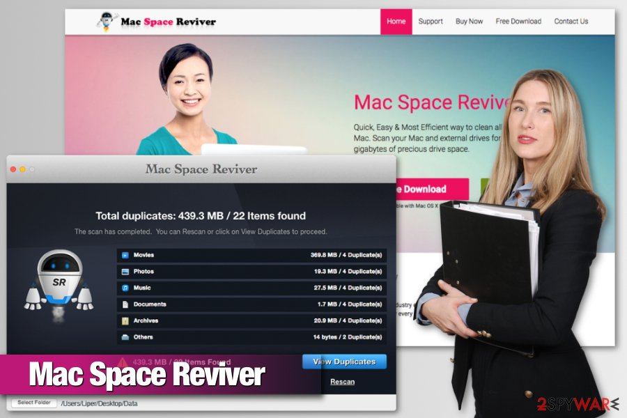 Mac Space Reviver virus image
