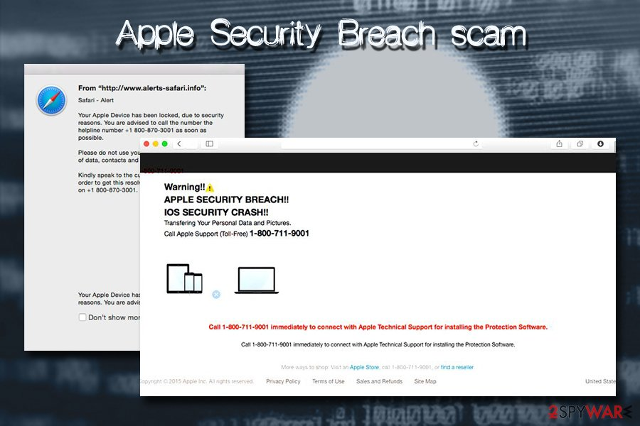 Mac virus scams
