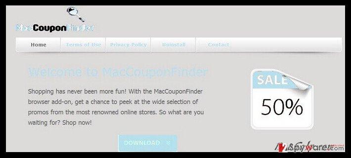 MacCouponFinder ads snapshot