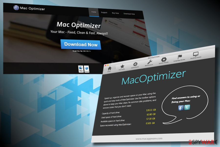 Mac Optimizer virus example