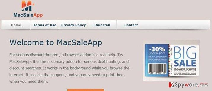 MacSaleApp ads snapshot