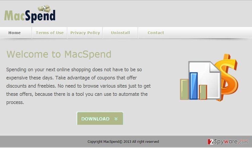 MacSpend adware snapshot