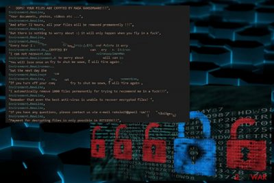 The ransom note of MADA ransomware