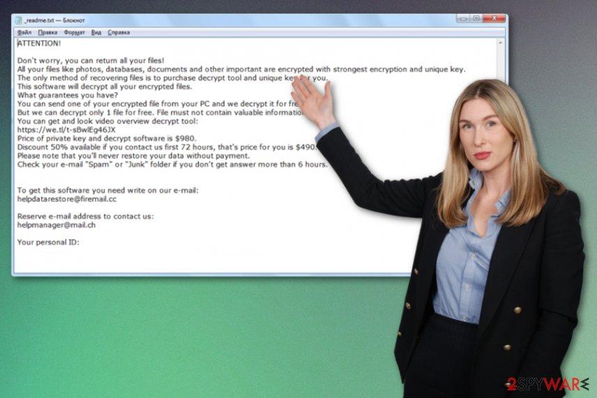 Mado ransomware virus