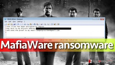 Screenshot of MafiaWare ransomware attack