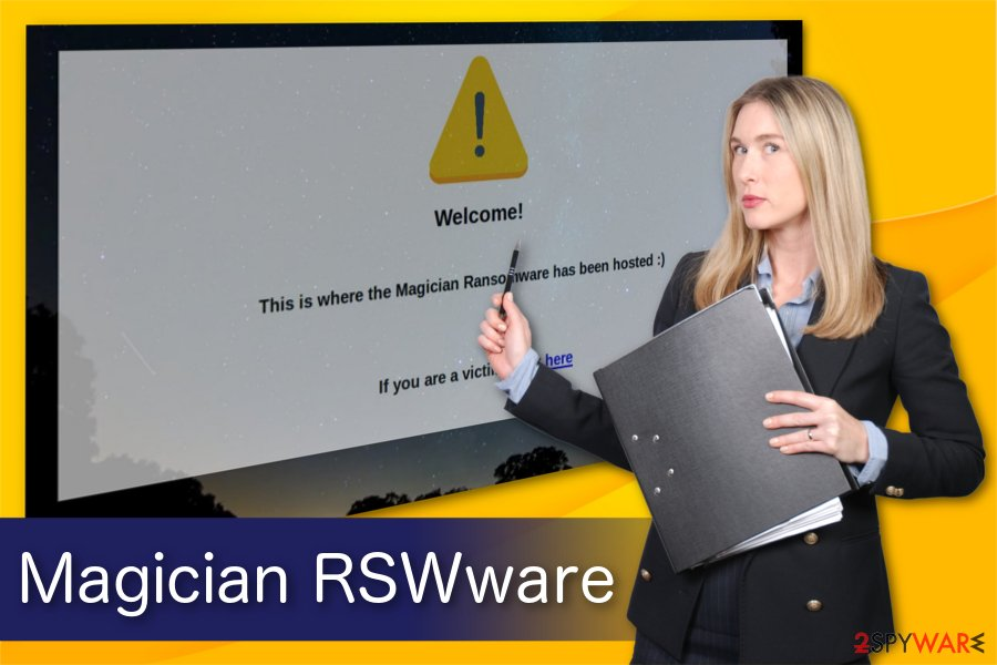 Magician RSWware ransomware illustration