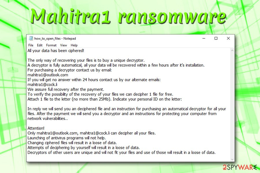 Mahitra1 ransomware