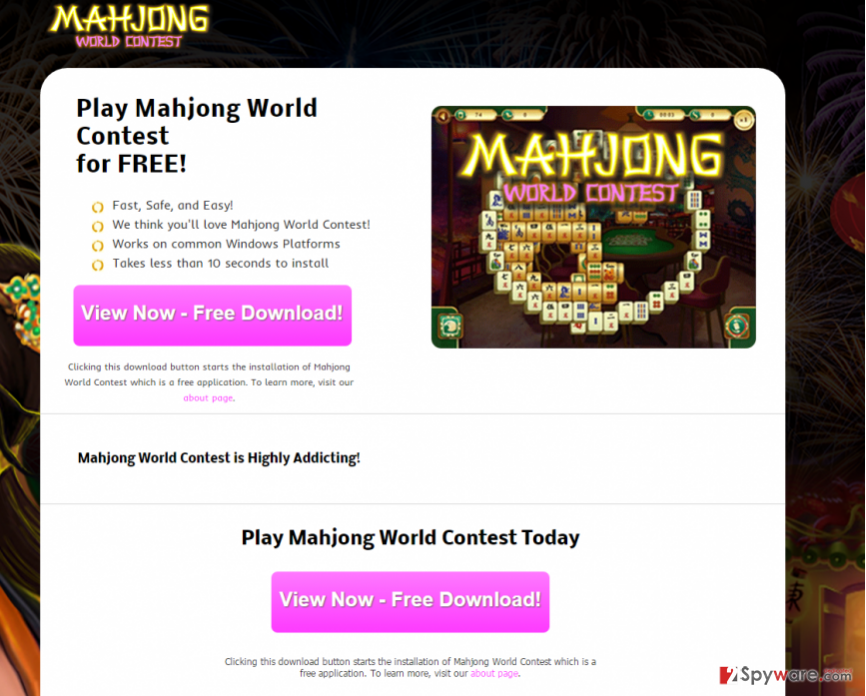Mahjong World Contest ads