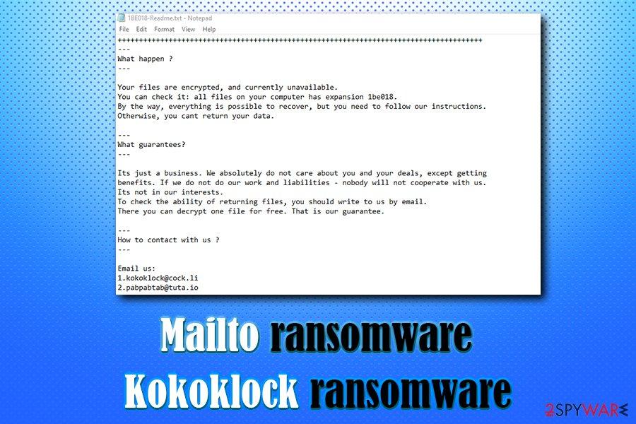 Remove Mailto ransomware (Virus Removal Guide) - Bonus