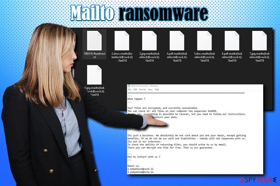 Mailto Kokoklock ransomware