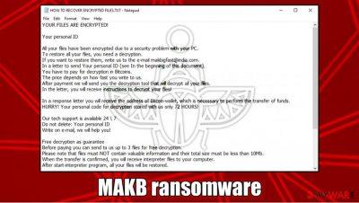 MAKB ransomware