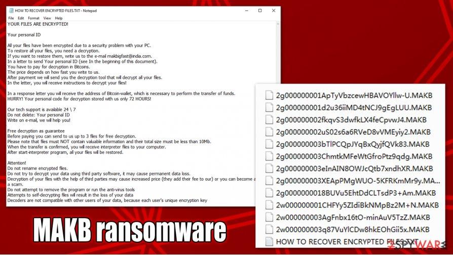 MAKB ransomware encrypted files