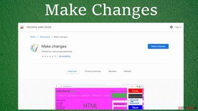 Make Changes browser hijacker