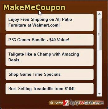 MakeMeCoupon ads