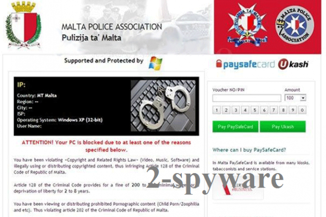 Malta Police Association virus snapshot