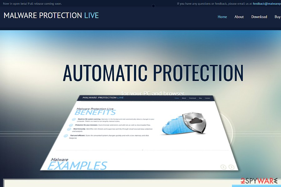 Malware Protection Live image