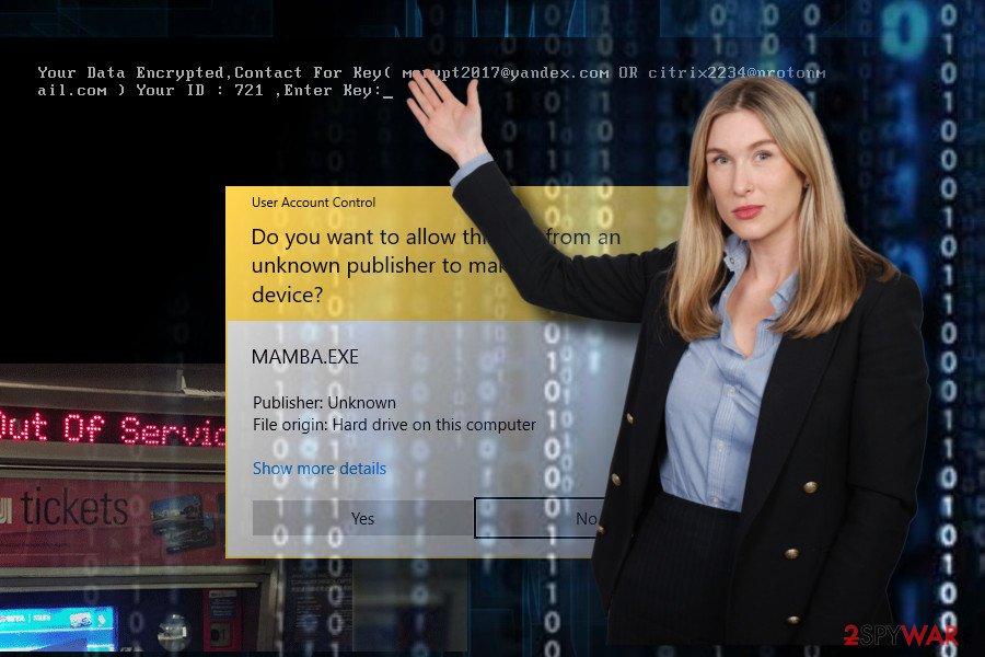 Mamba ransomware infection