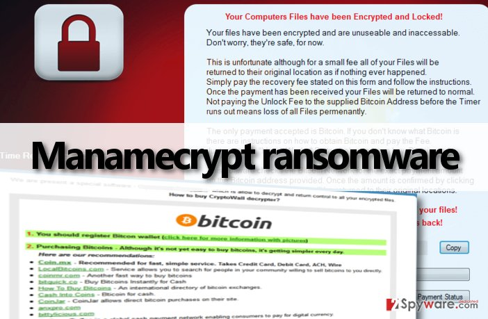 Manamecrypt ransomware asks to pay up
