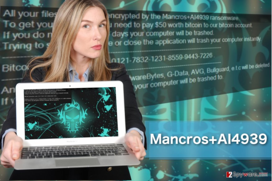Image of Mancros+AI4939 ransomware virus