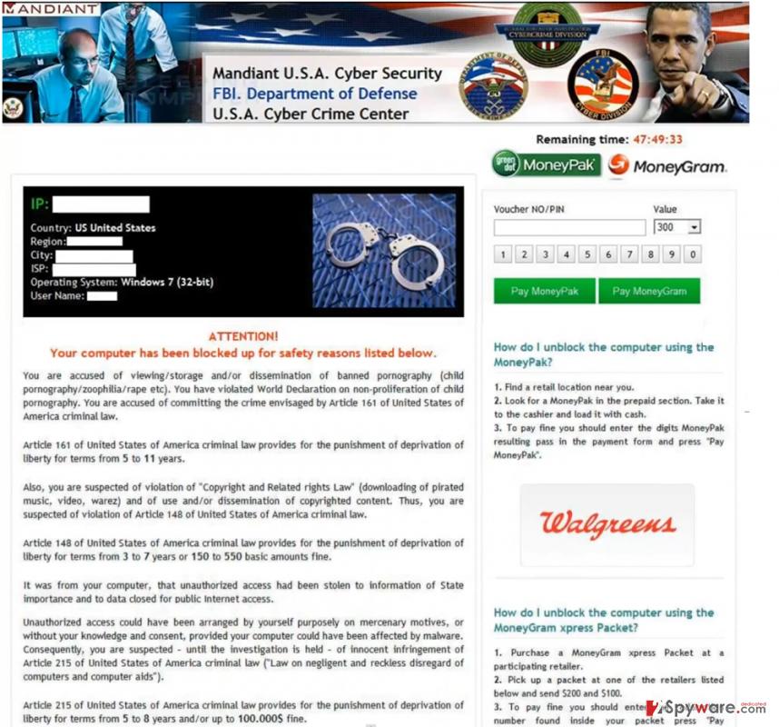 Mandiant USA Cyber Security virus snapshot