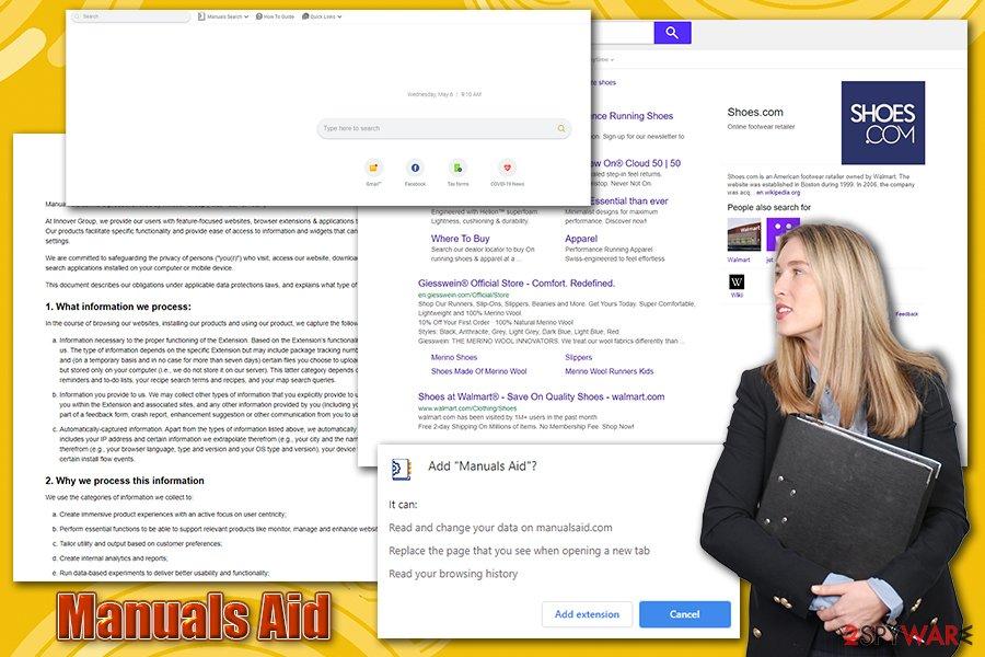 Manuals Aid browser hijacker