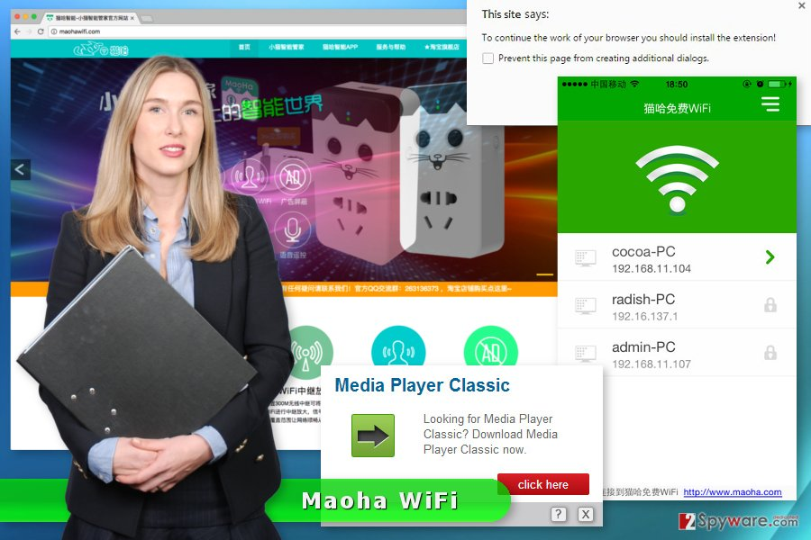 The picture of  Maoha WiFi ads
