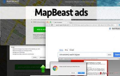 MapBeast adware replaces homepage, displays ads
