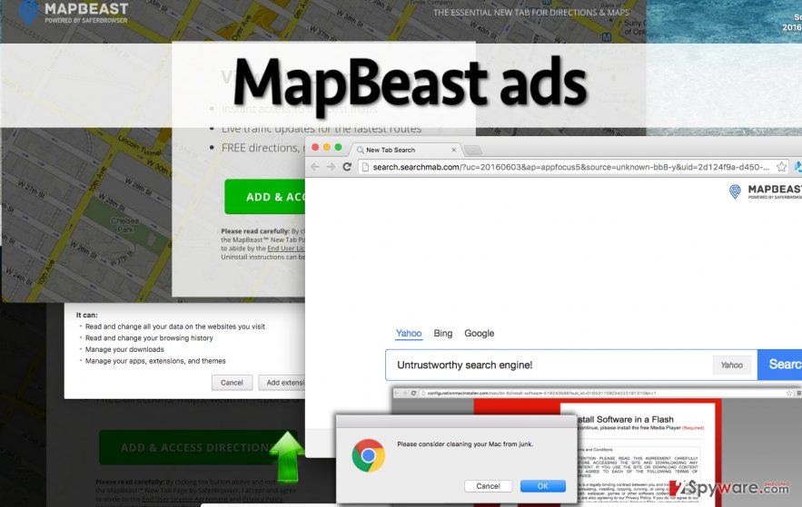 MapBeast virus download page