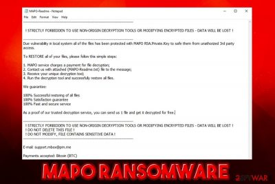 Mapo ransomware