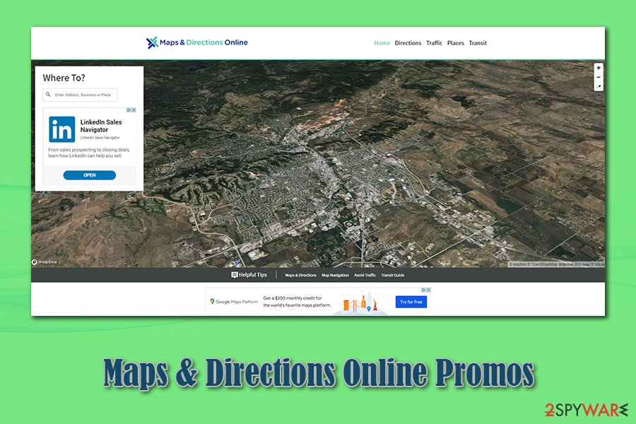 Maps & Directions Online Promos