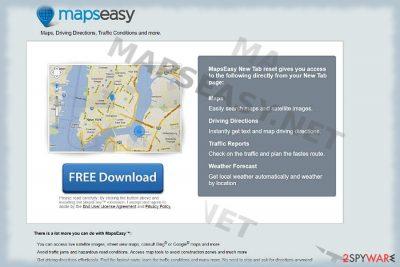 Mapseasy.net browser hijacker