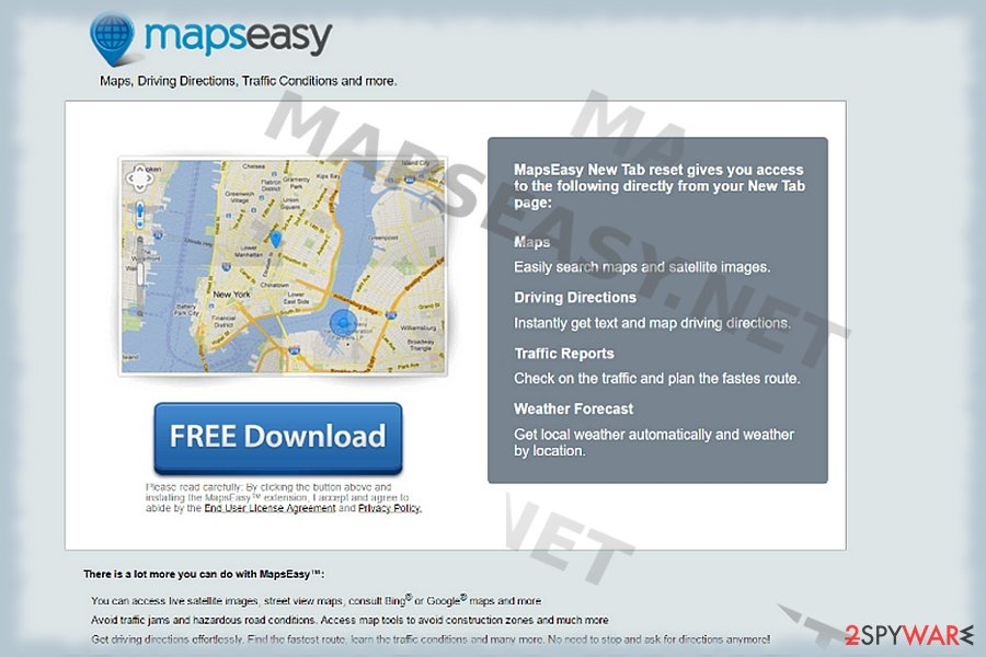 The picture displaying mapseasy.net
