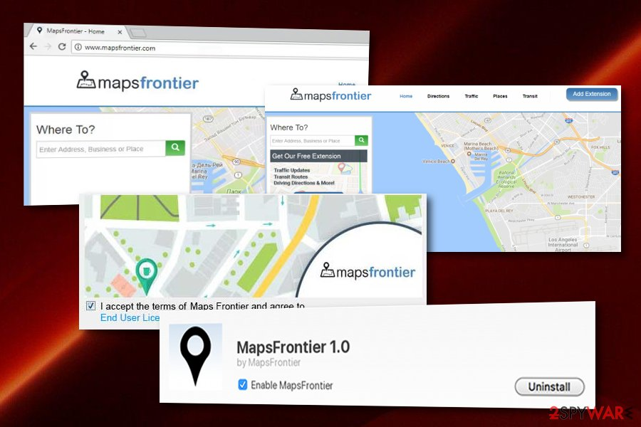 Maps Frontier adware