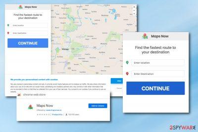 Mapsnow.co browser hijacker