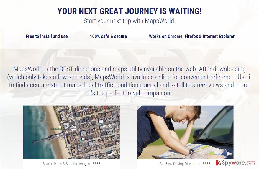MapsWorld ads