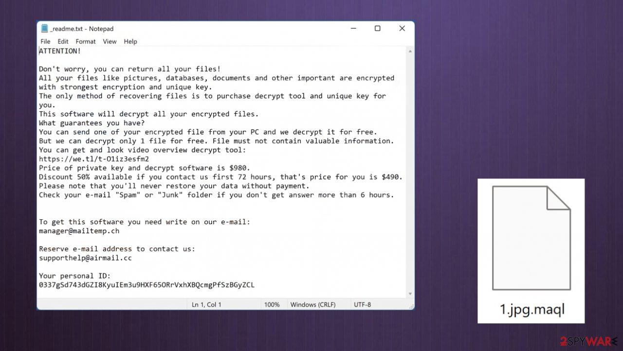 Maql file virus