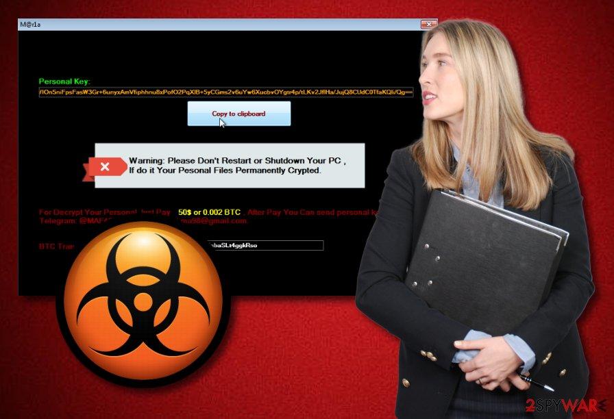 M@r1a ransomware virus