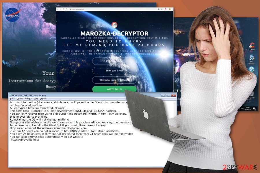 Marozka ransomware virus