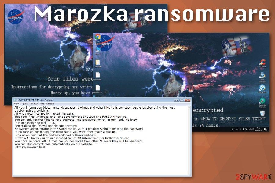 Marozka ransomware