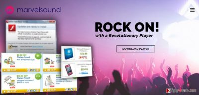 Example of MarvelSound ads