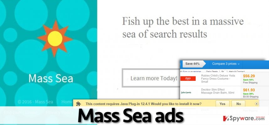 Mass Sea virus displays annoying ads