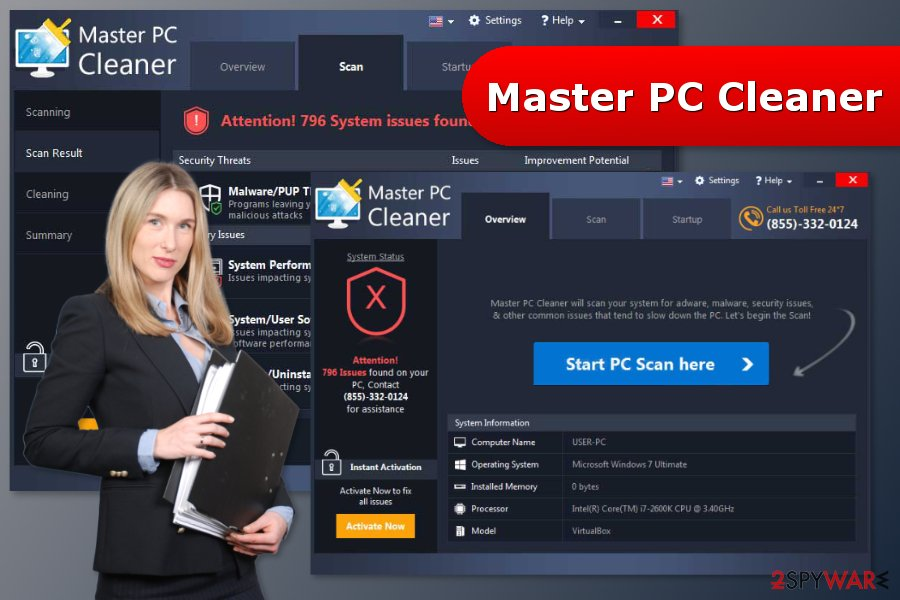 The image of Master PC Cleaner scan