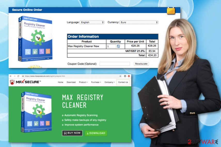 Max Registry Cleaner computer software