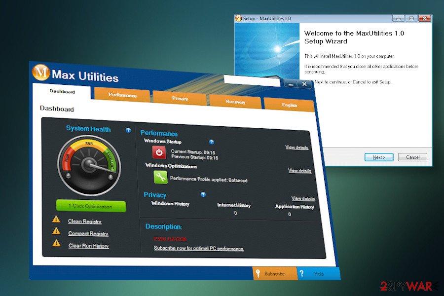 Max Utilities malware