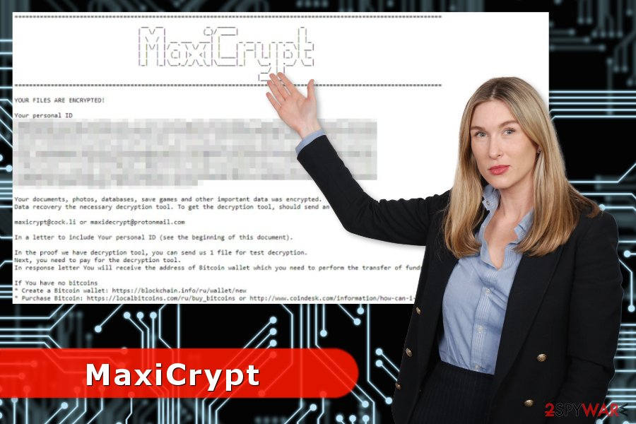 MaxiCrypt ransomware virus attack
