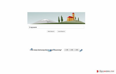 The main page of Maxwebsearch.com virus