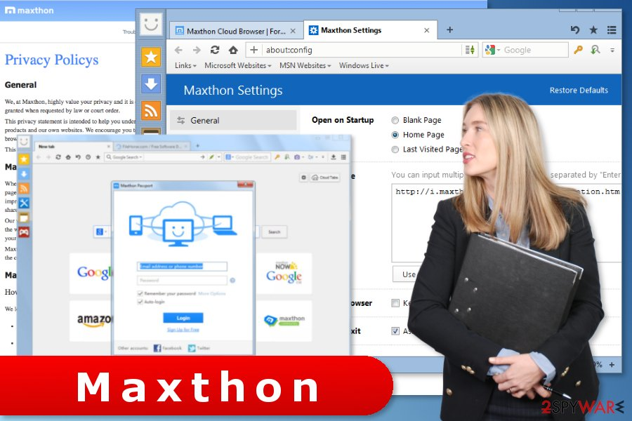 The picture of Maxthon browser settings