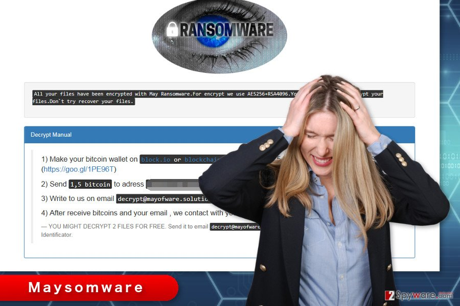 The image of Maysomware ransomware virus